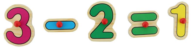 数字拼图木质制立体