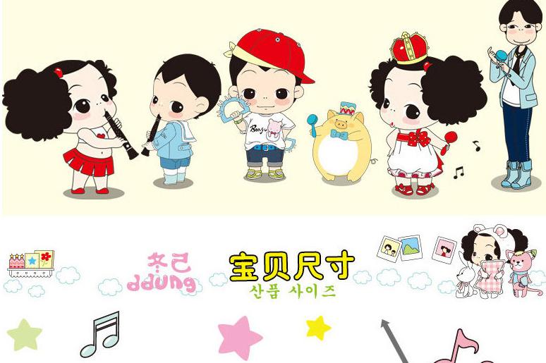 ddung/冬己正品儿童单面卡通可爱手拍鼓宝宝乐器手铃鼓音乐玩具