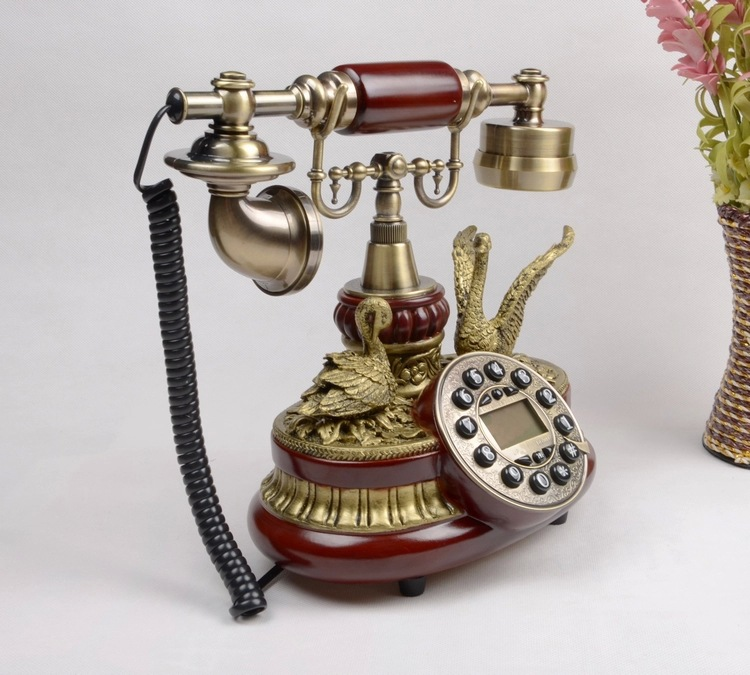 欧式古典风复古经典飞鹤电话机无需电池