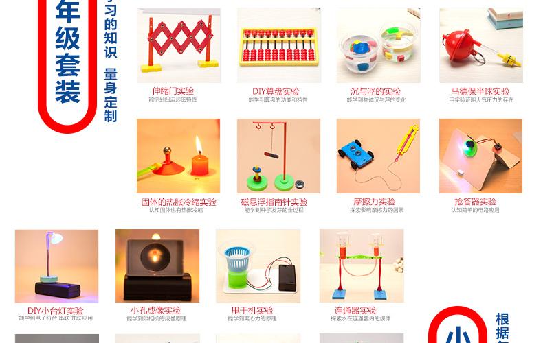 小学生科学实验玩具套装 科技小制作益智儿童小牛顿小发明diy材料_小