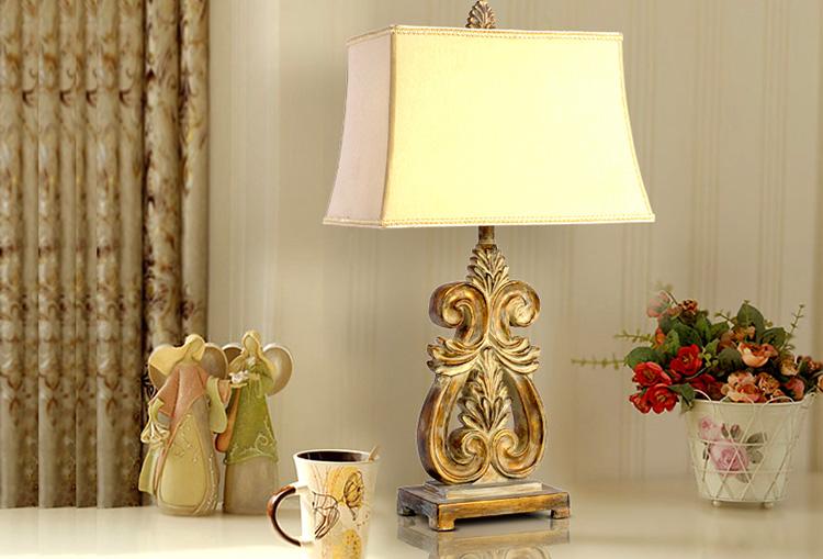 欧式古典装饰台灯 复古客厅卧室台灯床头灯