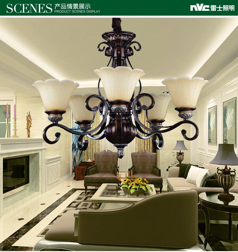 雷士照明 歐式客廳吊燈 奢華臥室餐廳燈現代簡約創意燈飾燈具