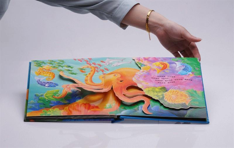 1本神秘的海洋动物大个子全景玩具立体书籍原版英国引进儿童科普立体