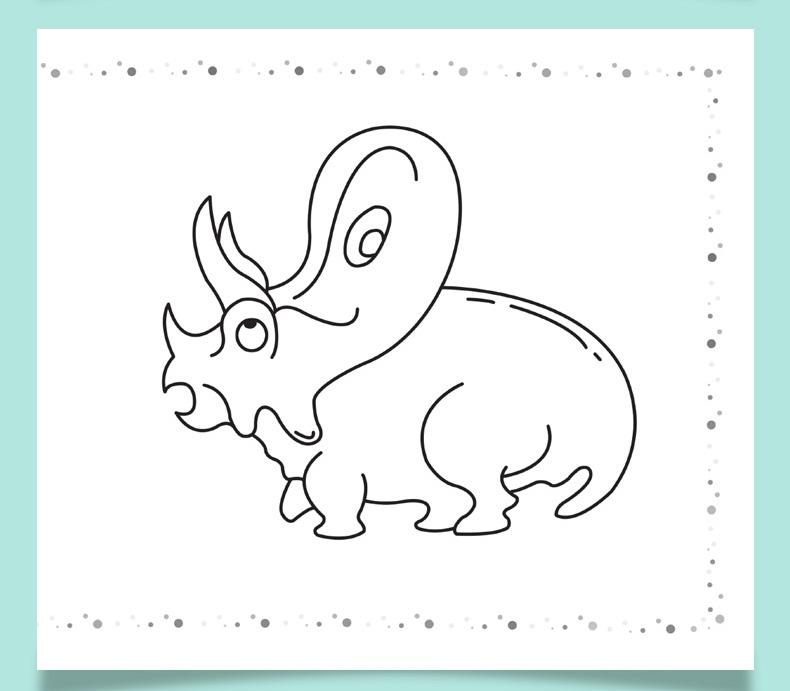 幼儿画画启蒙恐龙王国儿童简笔画6册套装套装幼儿园教材学前班宝
