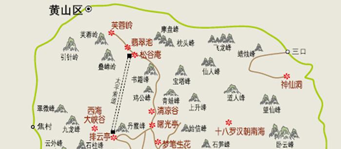 皖南旅游景点地图