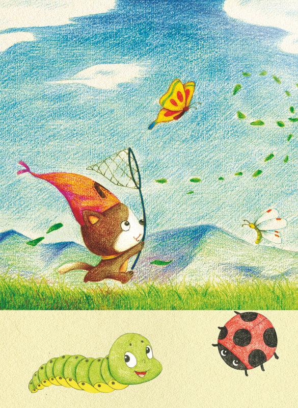 涂涂猫的彩色铅笔简笔画:动物城堡(修订版) 涂涂猫 9787115411082