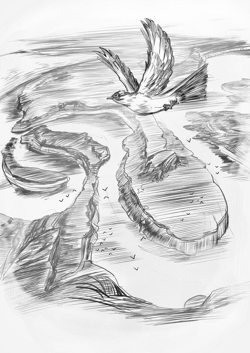 手绘单体沙