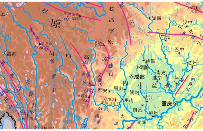 中国地理地图