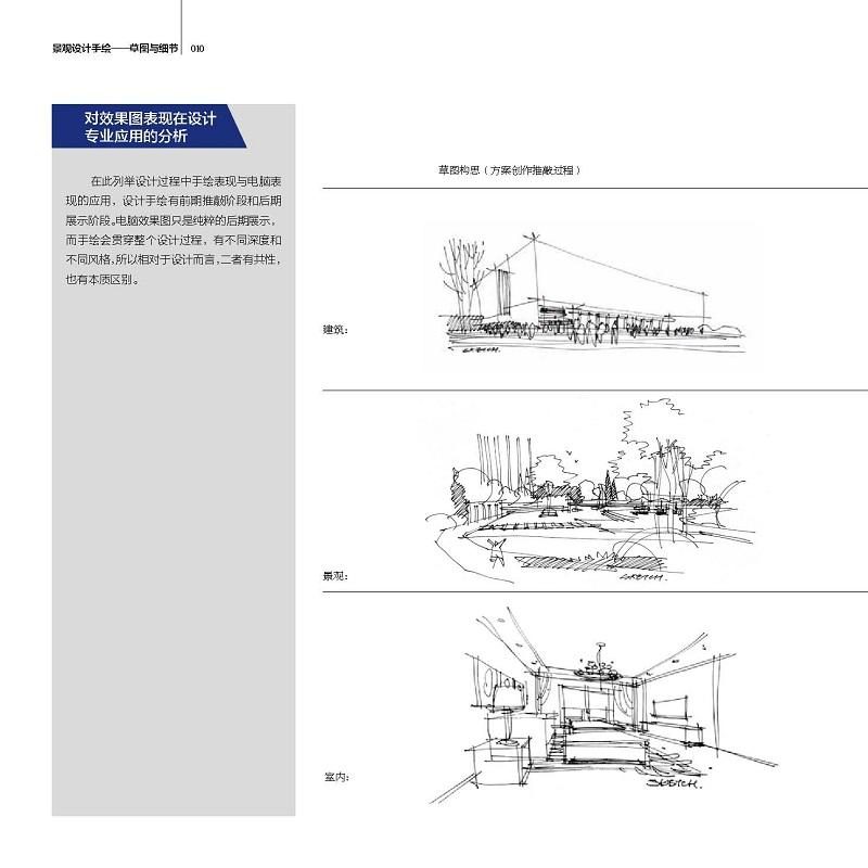 景观设计手绘——草图与细节(第二版)(一场脑与手完美的协作配