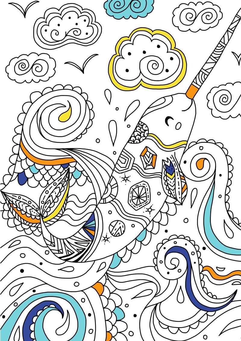 儿童创意手绘涂色书:奇妙的动物