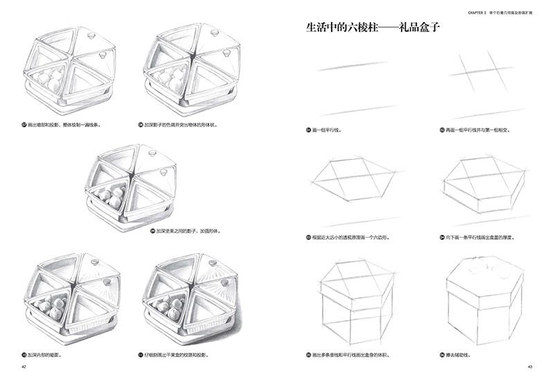 铅笔素描拓展训练:从石膏几何体到静物