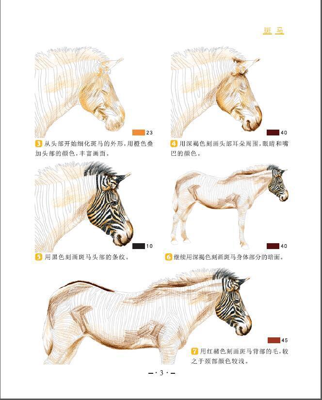 绘画技法 动物 色铅笔技法从入门到精通